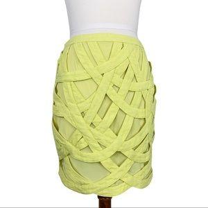 ADAM Adam Lippes Yellow Banded Mini Skirt 6